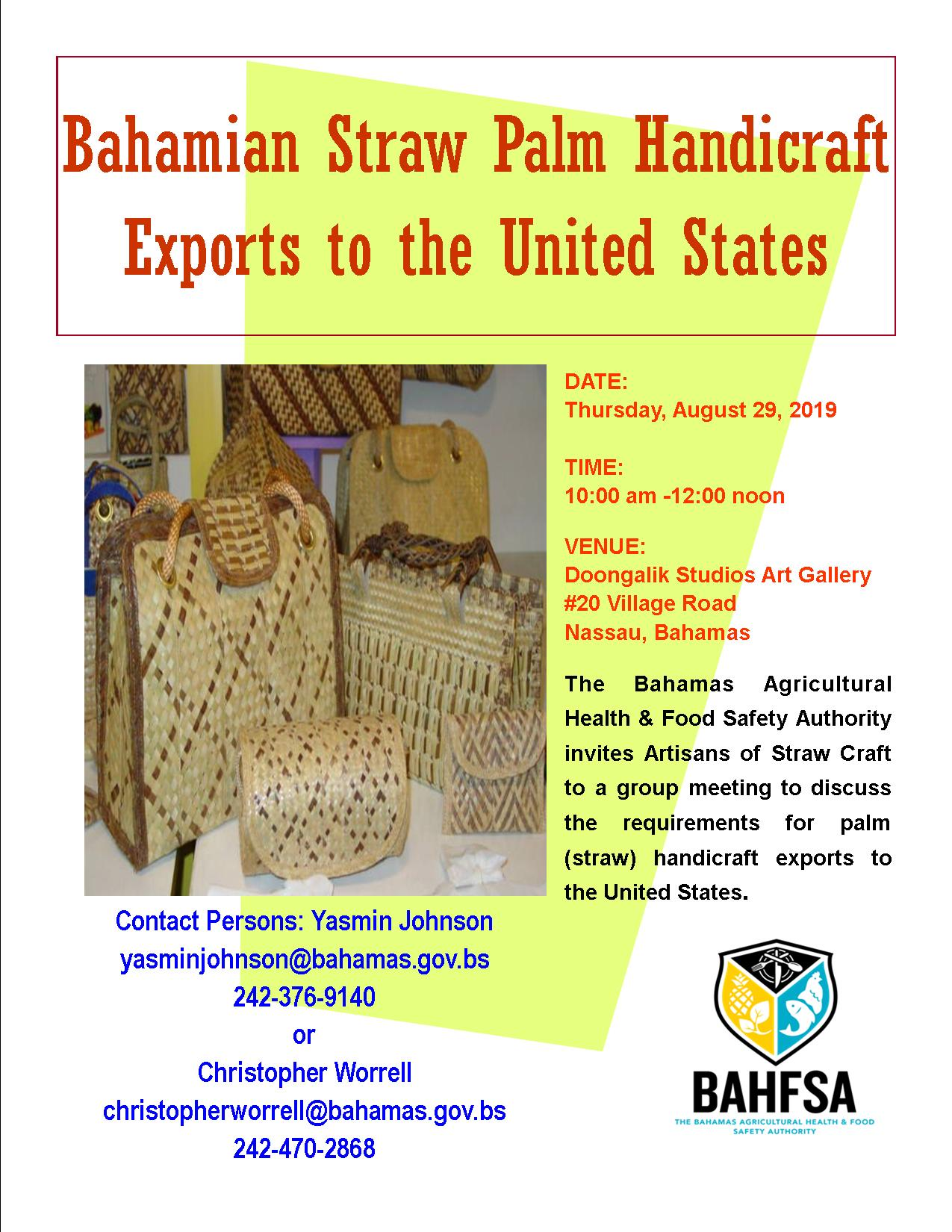 Straw Craft Export Meeting Flyer