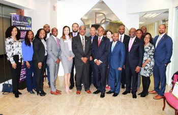 Bahamas Delegation poses with President & CEO of the DC Chamber of Commerce Mr. Vincent B. Orange, Sr.